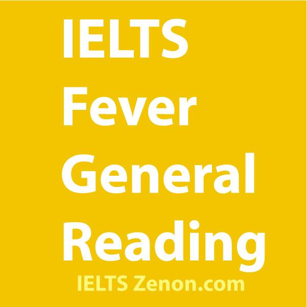 IELTS fever general reading